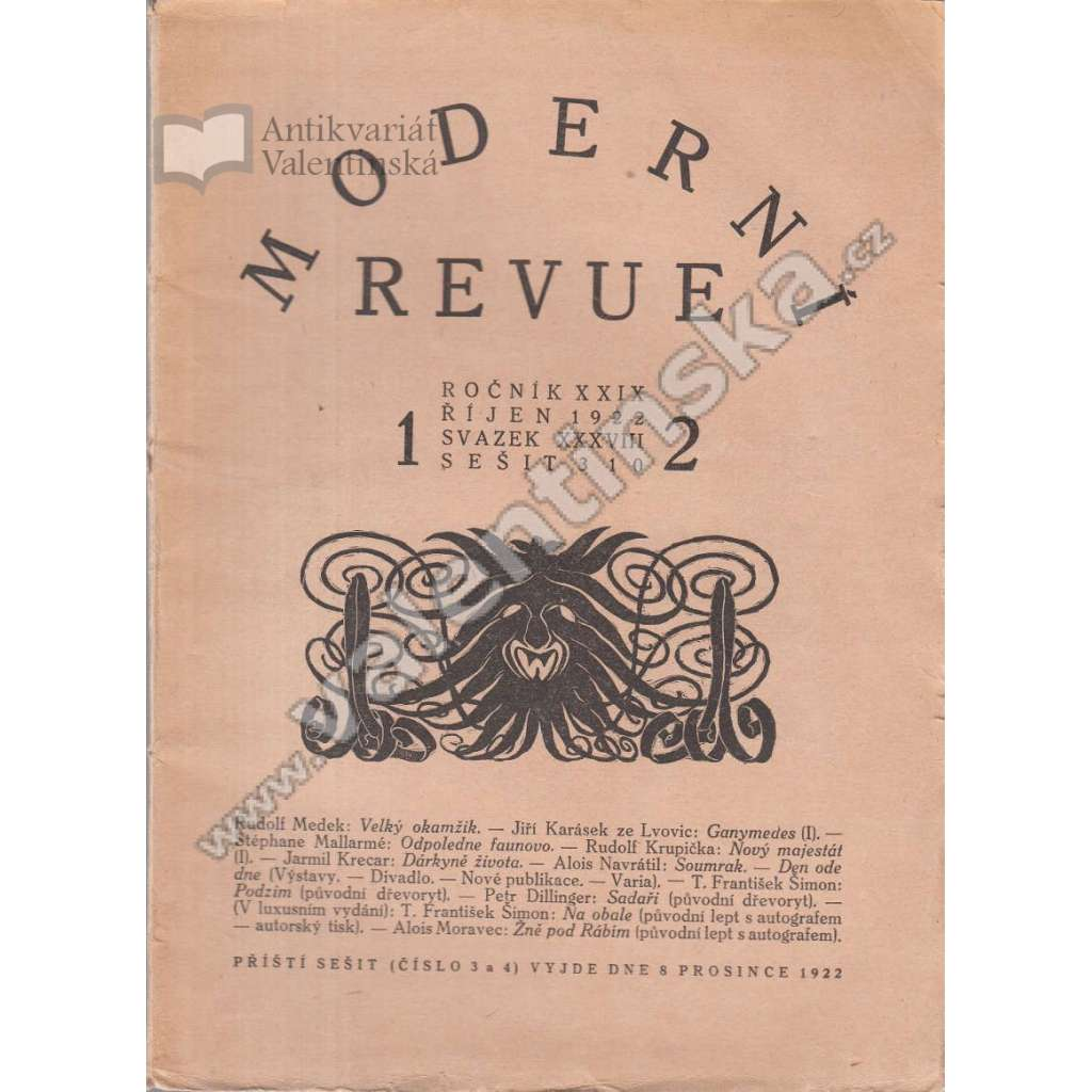 Moderní revue, r. XXIX (sv. XXXVIII.), 1922-23