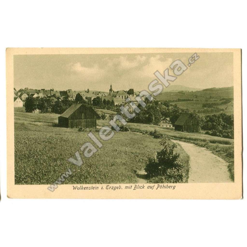 Krušné hory Německo Wolkenstein směr Vejprty