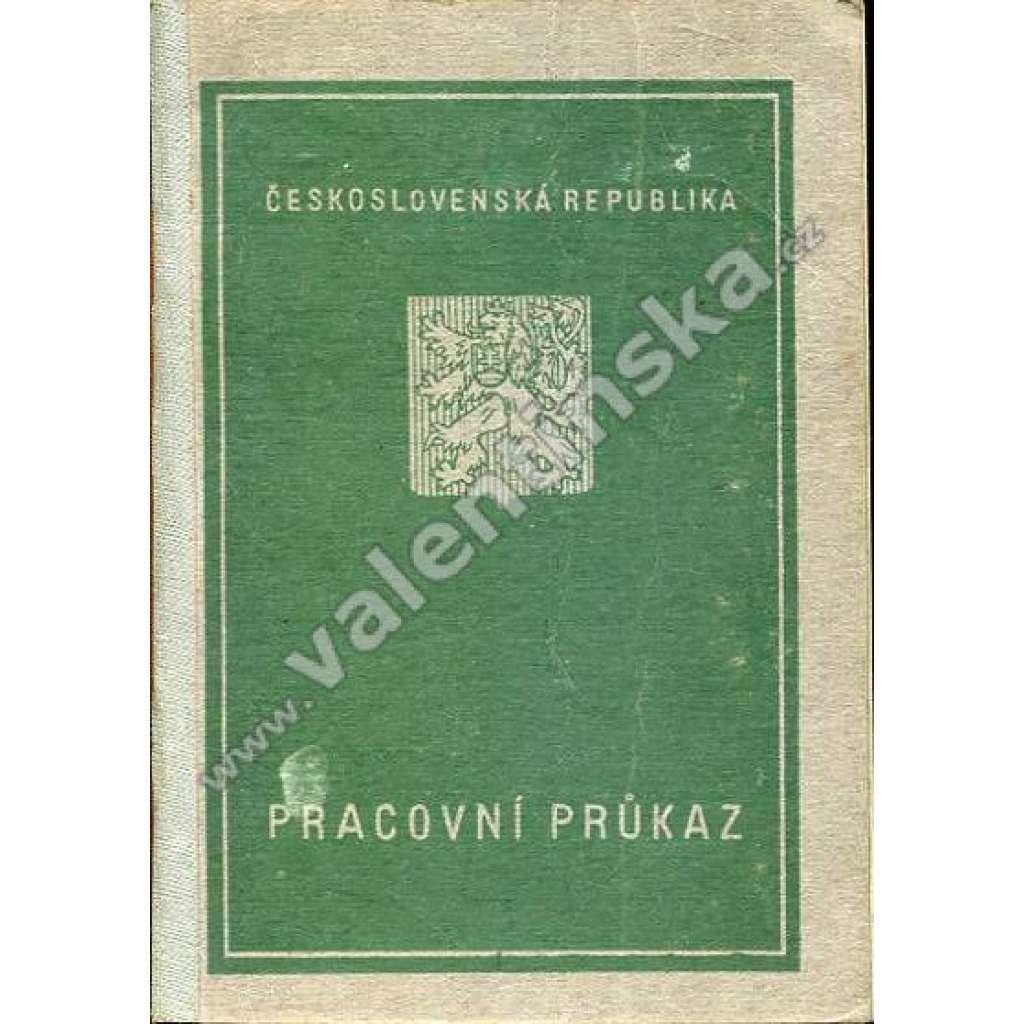 Pracovní průkaz - Československá republika