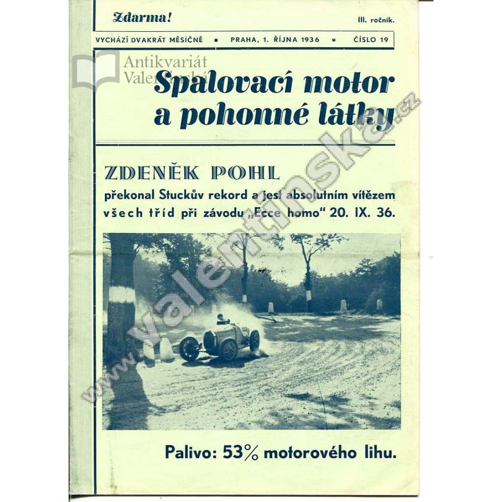 ČASOPIS SPALOVACÍ MOTOR A POHONNÉ LÁTKY III/19