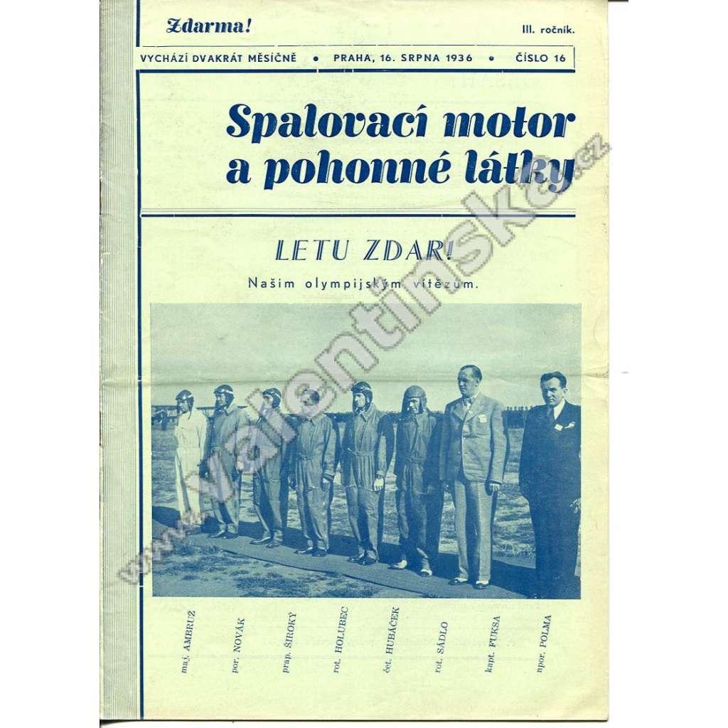 ČASOPIS SPALOVACÍ MOTOR A POHONNÉ LÁTKY III/16