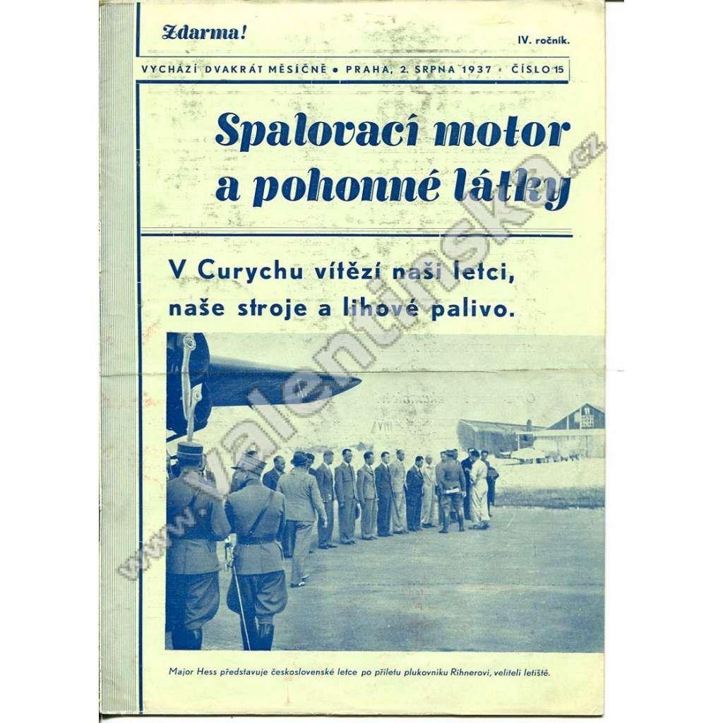 ČASOPIS SPALOVACÍ MOTOR A POHONNÉ LÁTKY IV/15