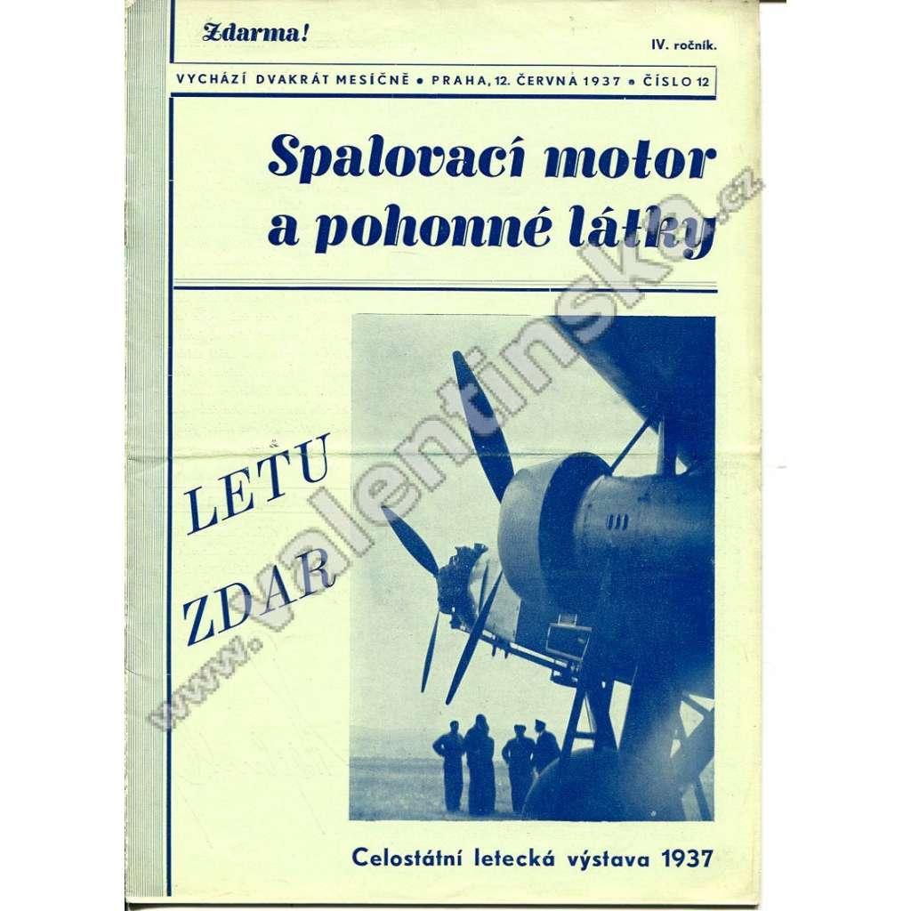 ČASOPIS SPALOVACÍ MOTOR A POHONNÉ LÁTKY IV/12