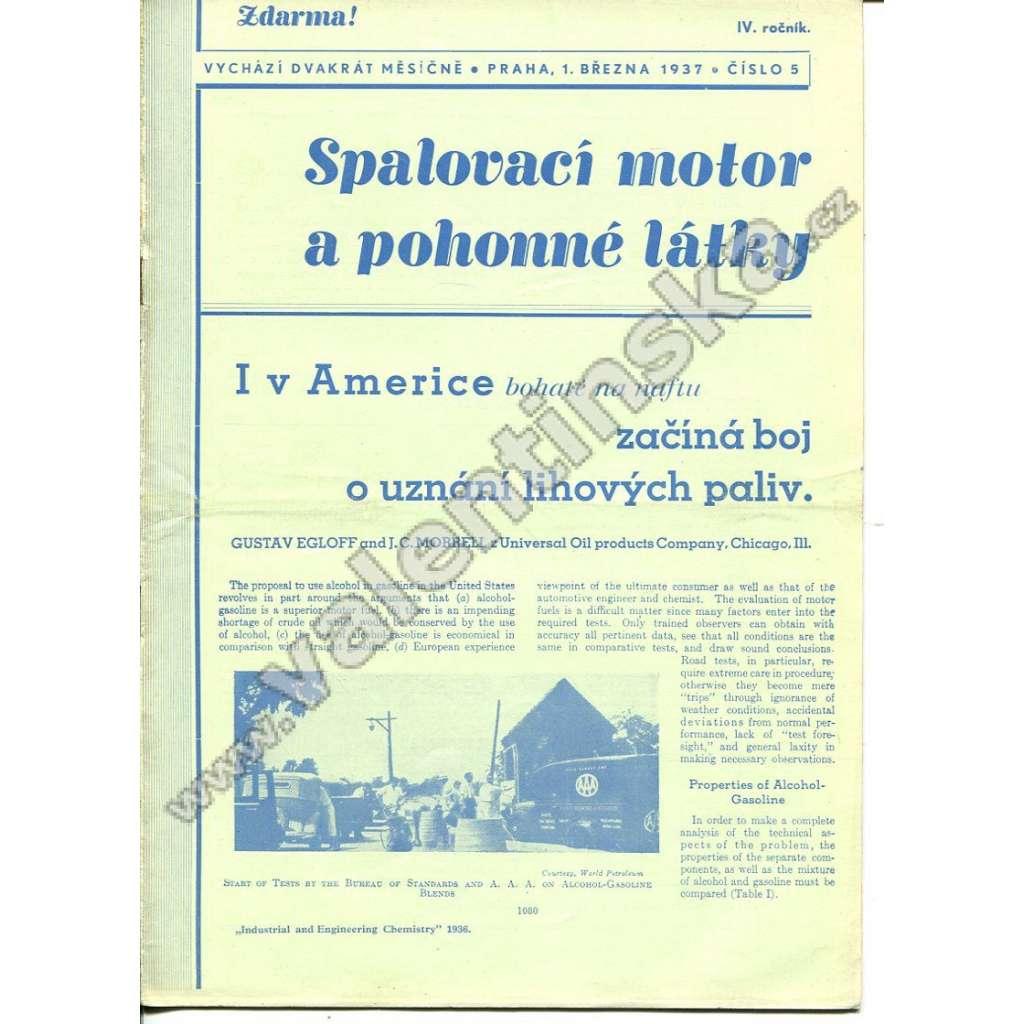ČASOPIS SPALOVACÍ MOTOR A POHONNÉ LÁTKY IV/5