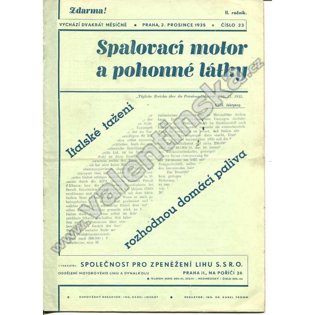 ČASOPIS SPALOVACÍ MOTOR A POHONNÉ LÁTKY II/23