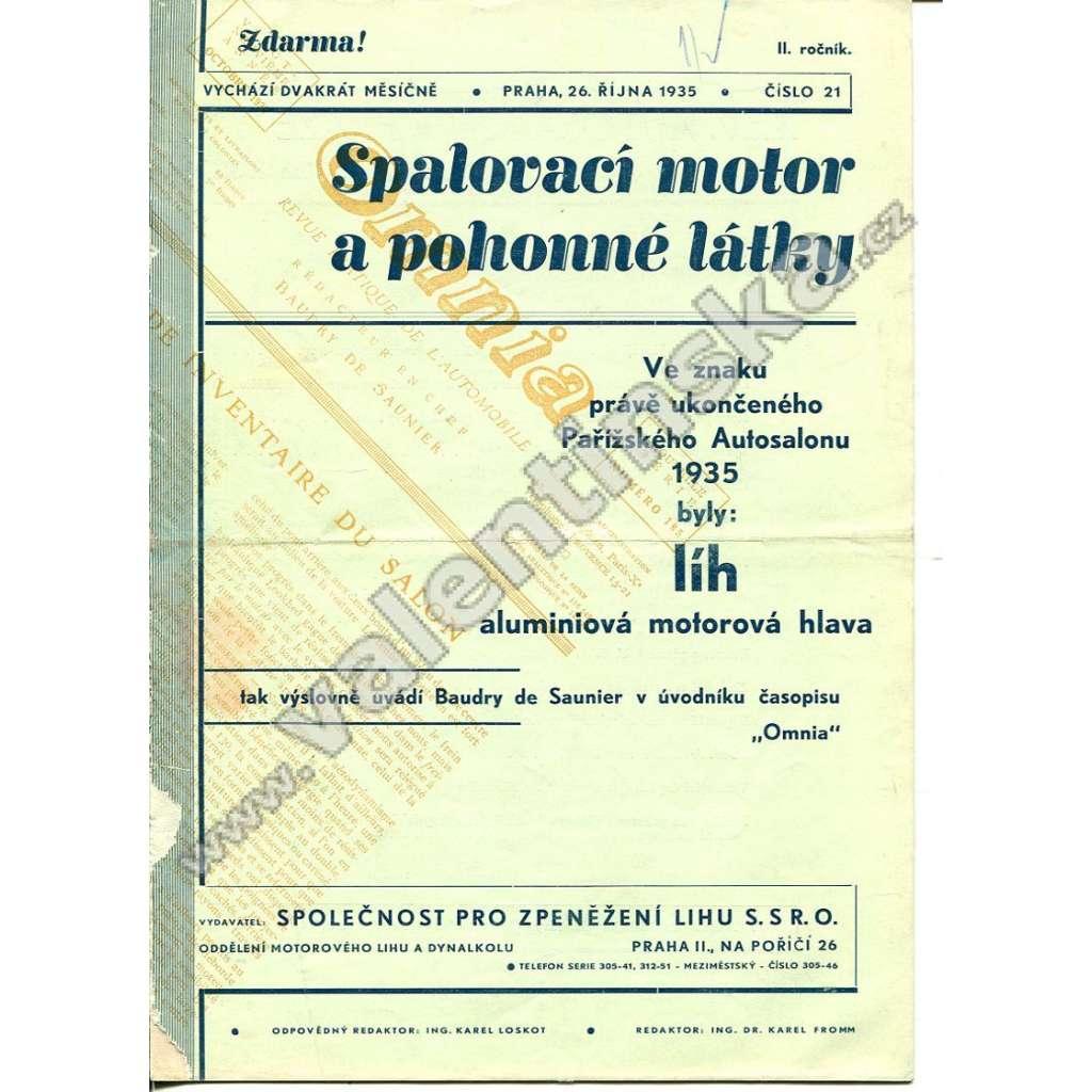 ČASOPIS SPALOVACÍ MOTOR A POHONNÉ LÁTKY II/21