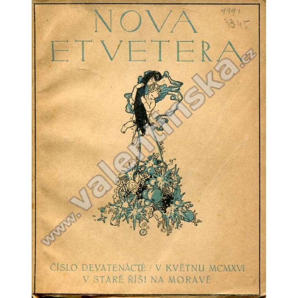Nova et vetera, číslo 19. (květen 1916)