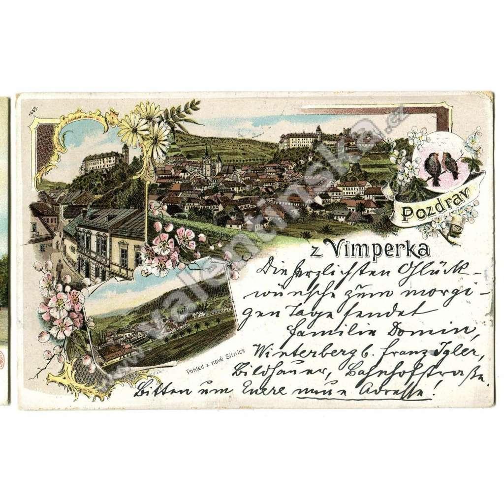 Vimperk, Prachatice / Šumava / litografie