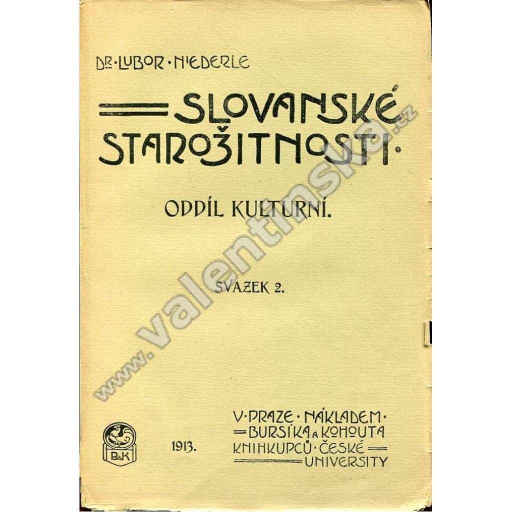 Slovanské starožitnosti, oddíl kulturní; sv. 2