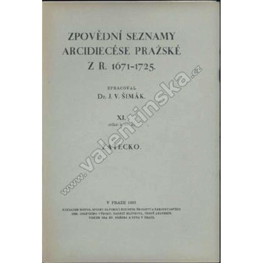 Zpovědní seznamy Arcidiecése pražské, Žatecko