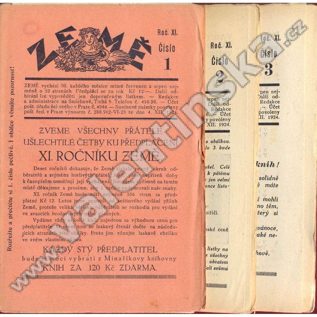 Země, r. XI. (1930), v sešitech