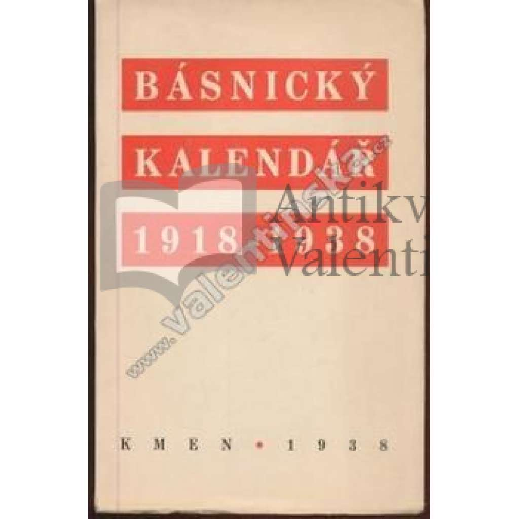 Básnický kalendář 1918-1938