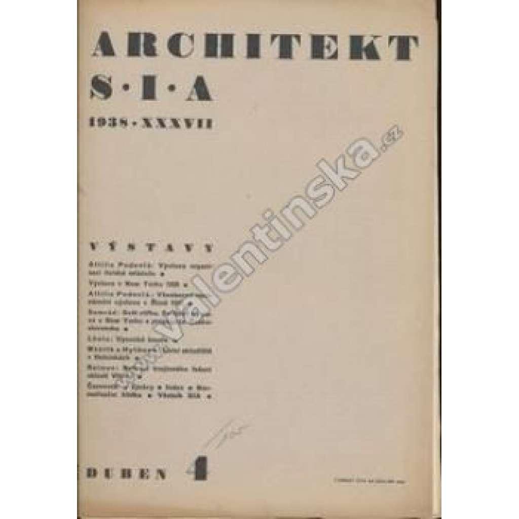 Architekt S.I.A, ročník 1938 - duben 4