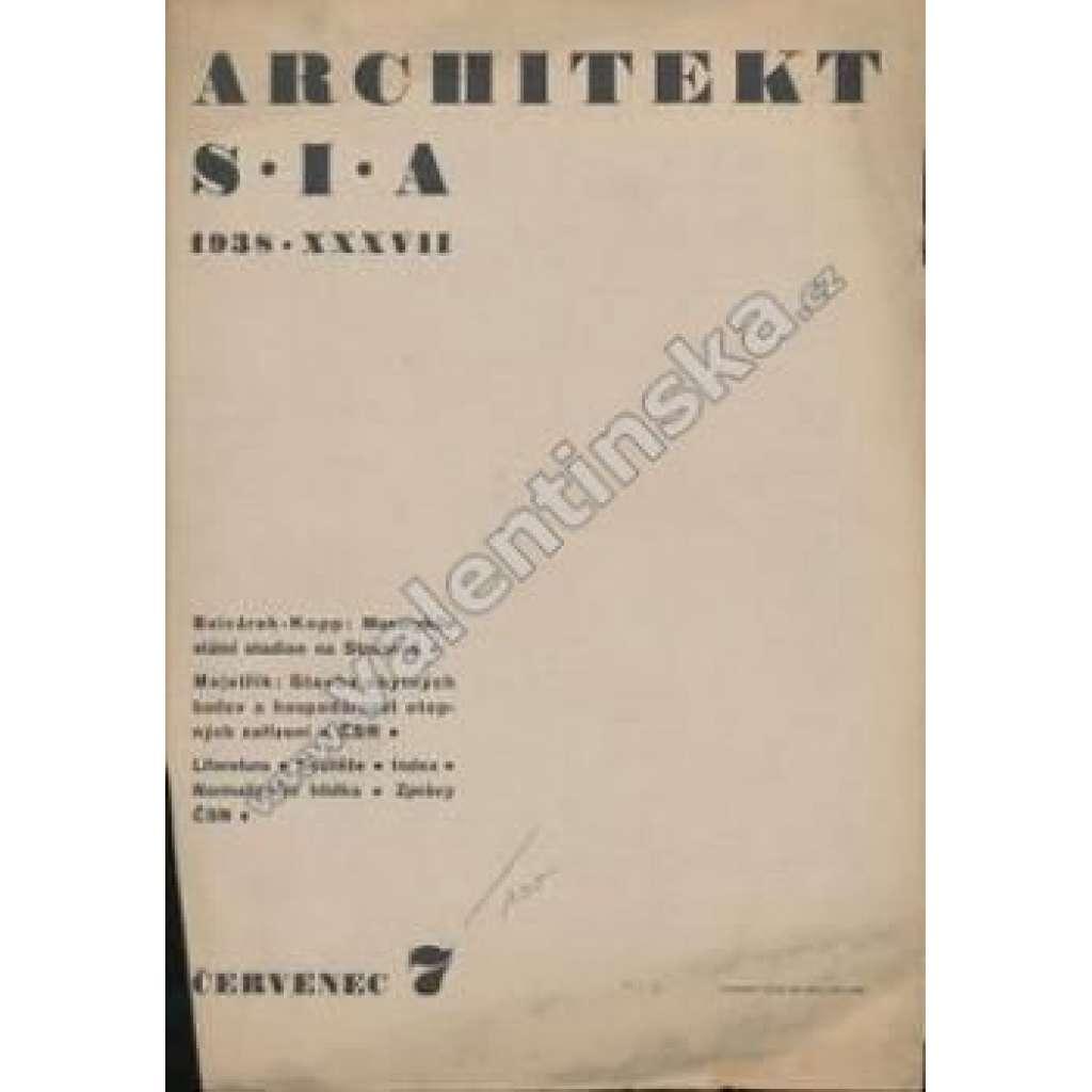 Architekt S.I.A, ročník 1938 - červenec 7