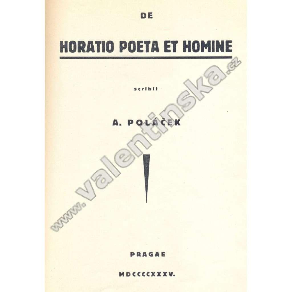 De horatio poeta et homine