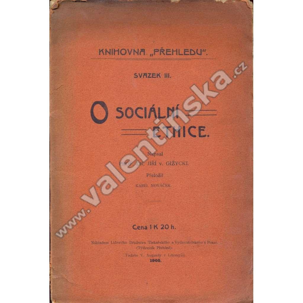 O sociální ethice