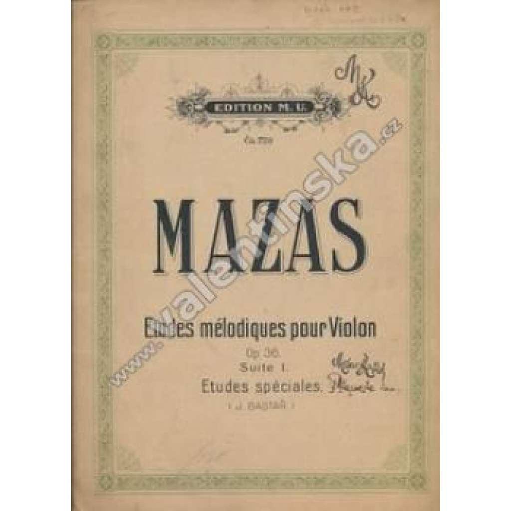 Etudes mélodiques pour Violon