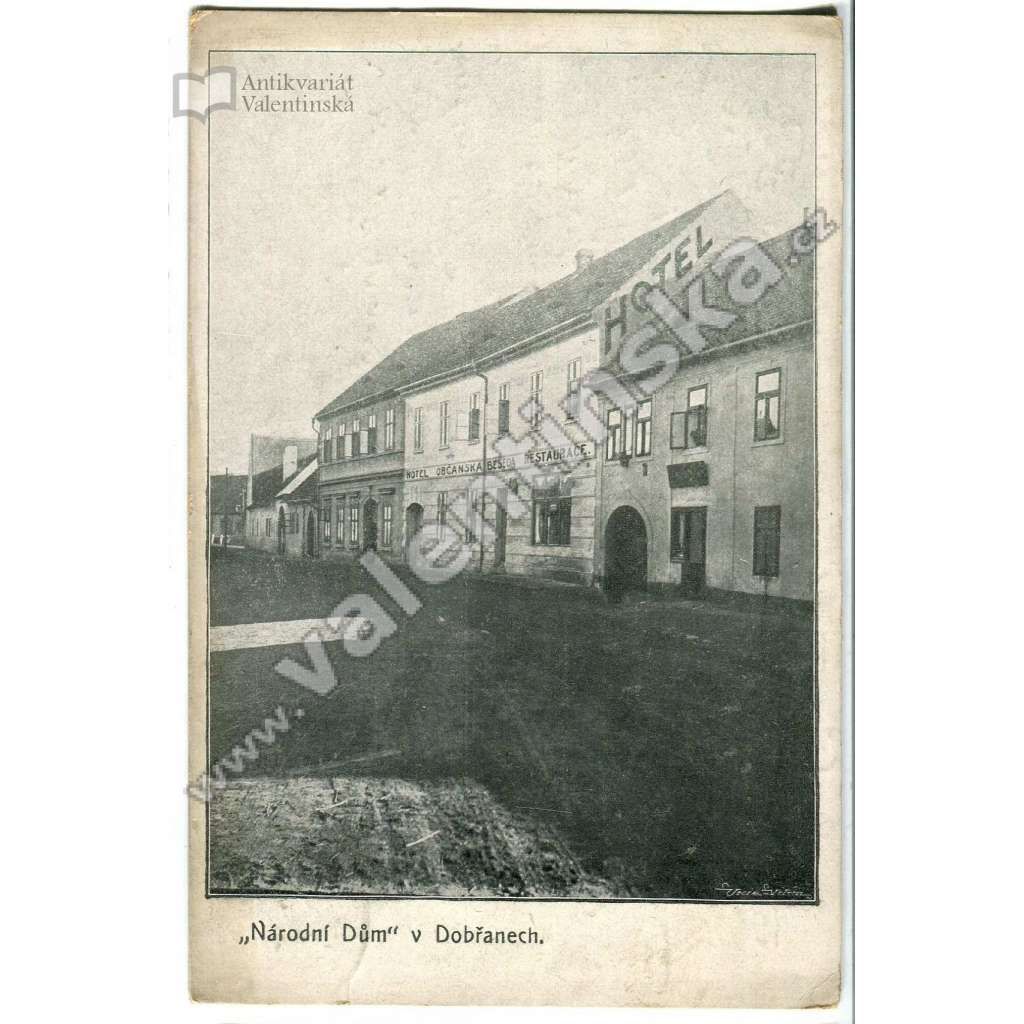 Dobřany, hotel Národní dům,, Plzeň jih