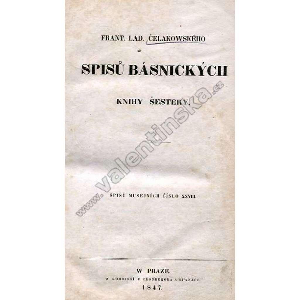 Spisů básnických knihy šestery (1847)