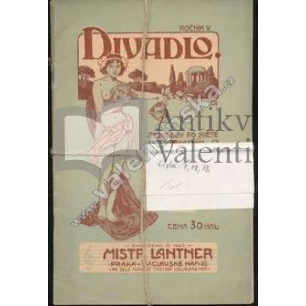 Divadlo.Rozhledy po světě divadelním. Roč.V.,1907