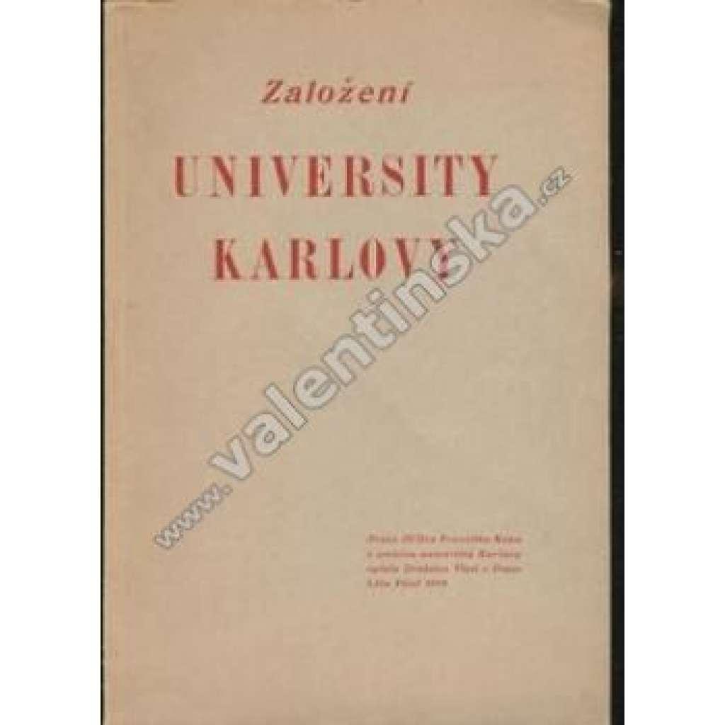 Založení University Karlovy