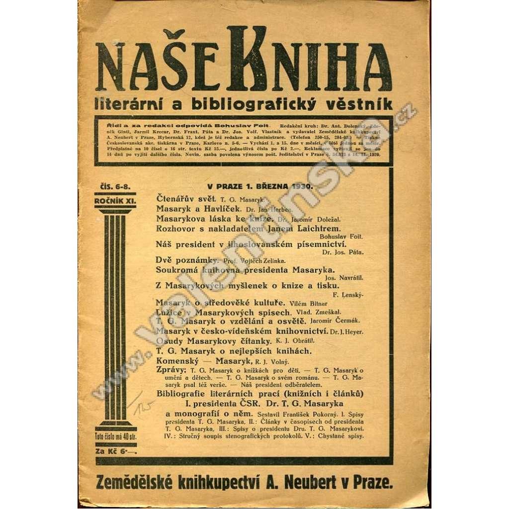 Naše kniha, r. XI., č. 6-8 (březen 1930)