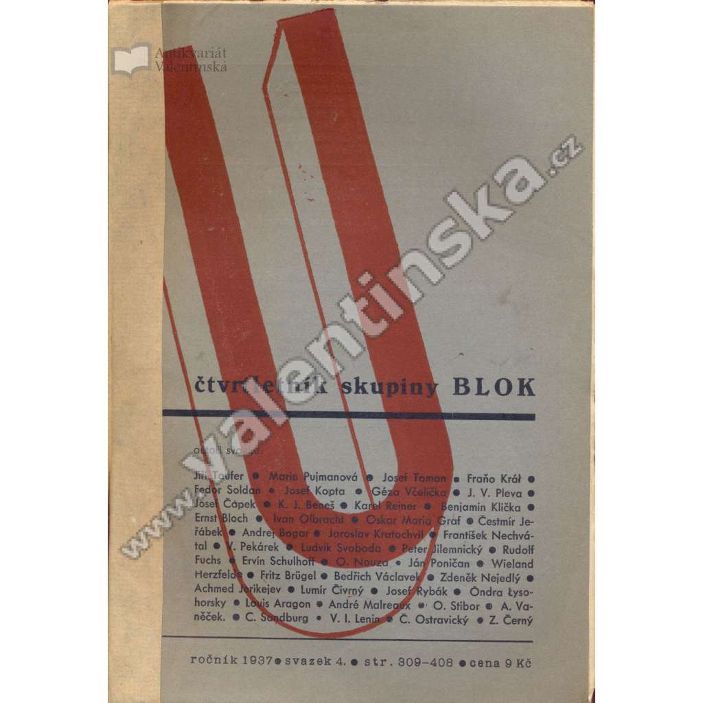 U: Čtvrtletník skupiny Blok, 4/1937