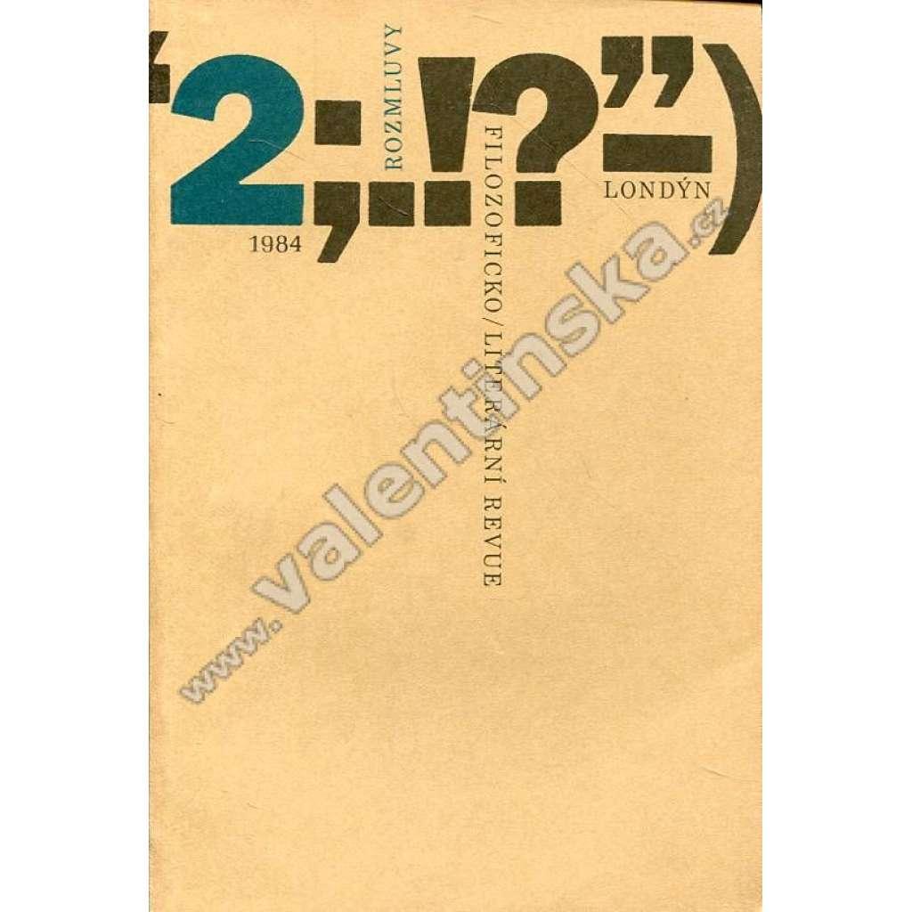 Rozmluvy, 2/1984 (exilové vydání!)