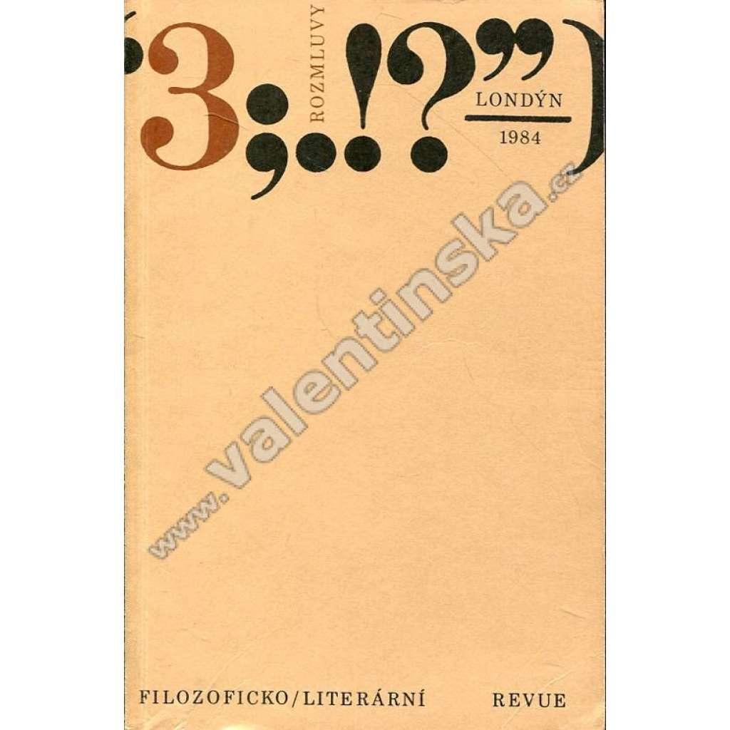 Rozmluvy, 3/1984  (exilové vydání!)