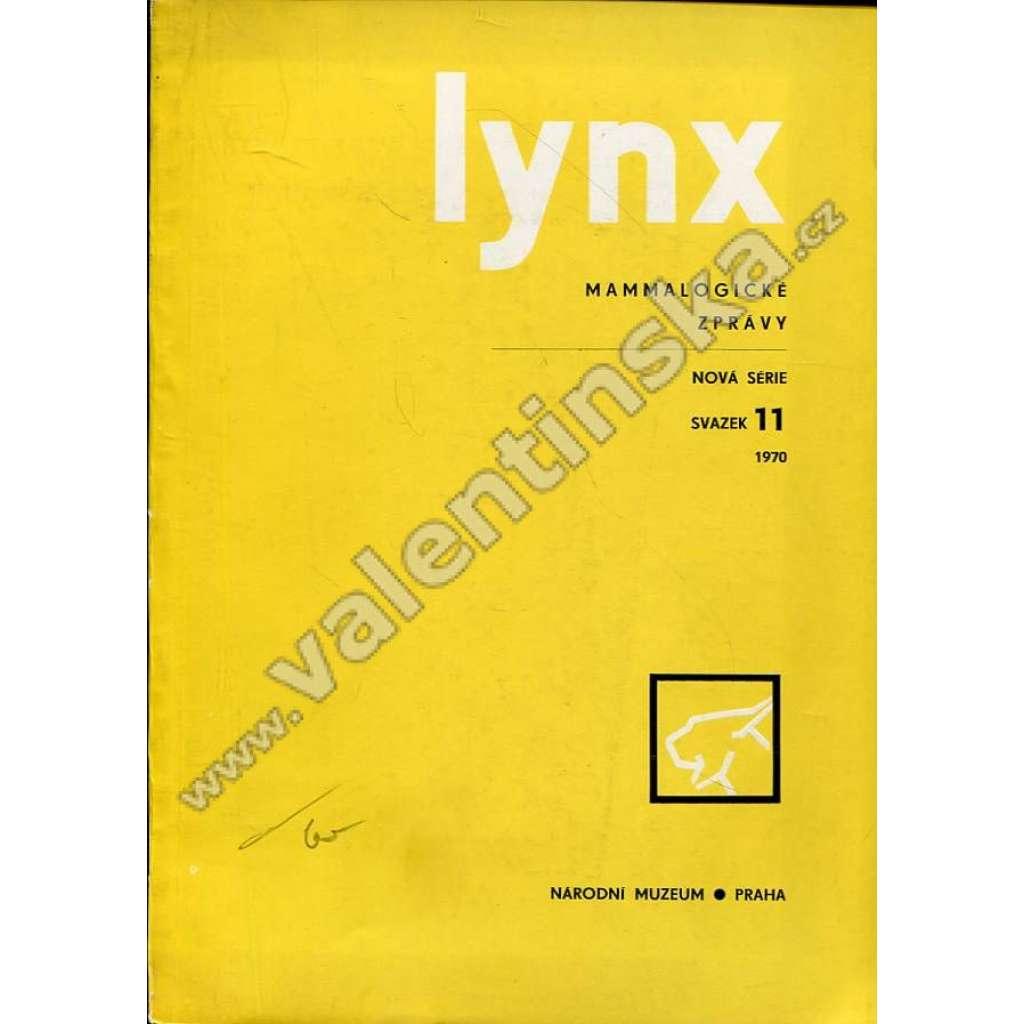 Lynx: Mammalogické zprávy, 11/1970