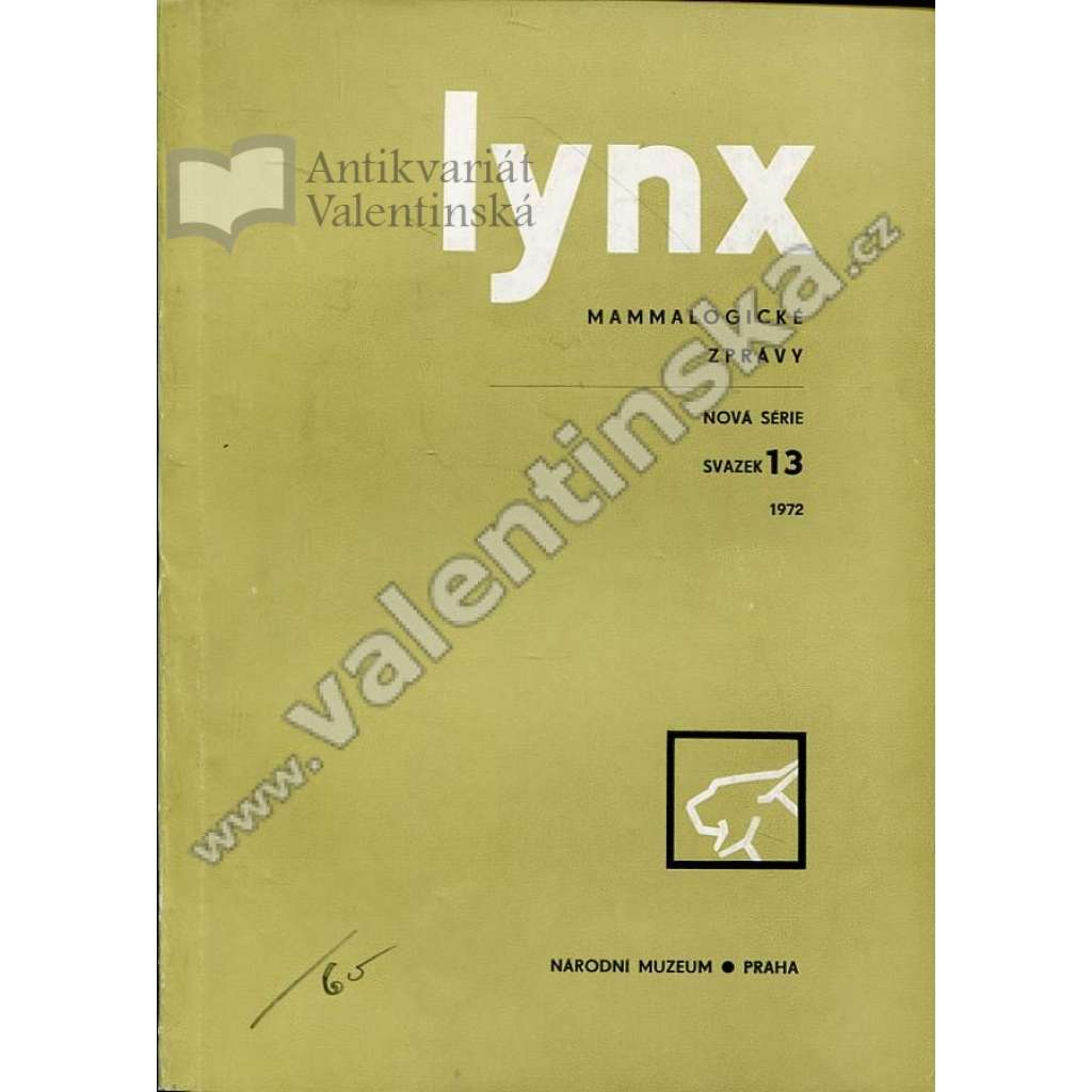 Lynx: Mammalogické zprávy, 13/1972
