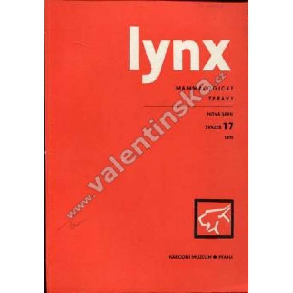 Lynx: Mammalogické zprávy, 17/1975