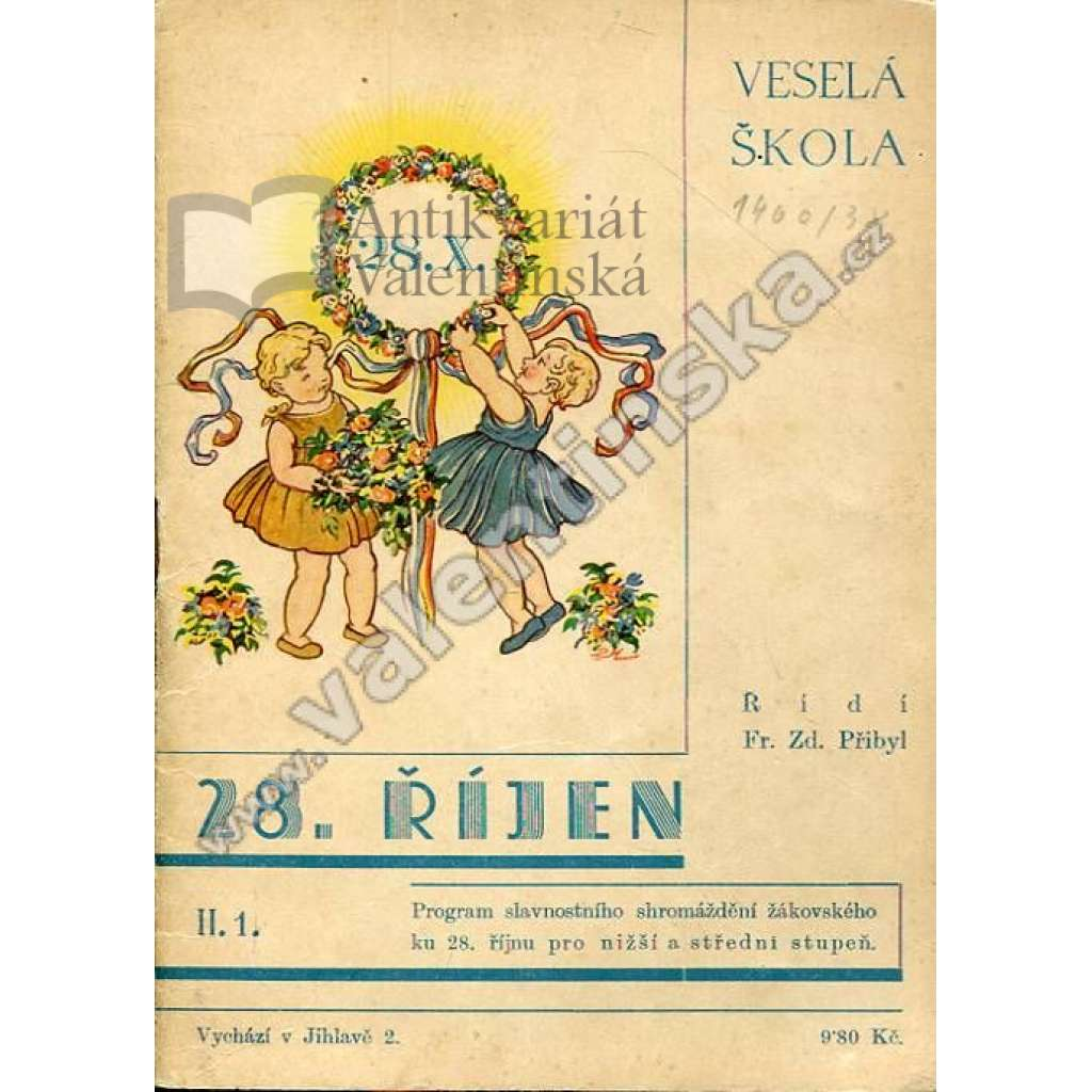 Veselá škola (srpen 1936) - číslo k 28. říjnu