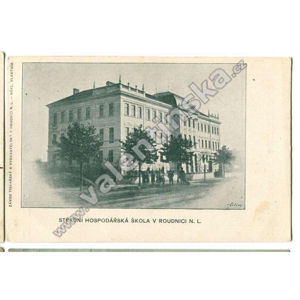 Roudnice, Litoměřice. hospodářská škola