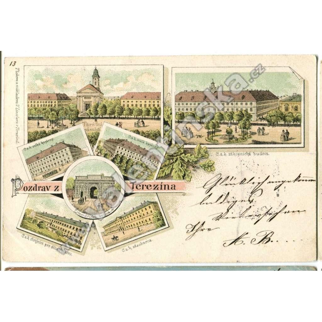 Terezín, Litoměřice, litografie