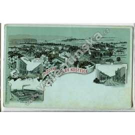 Červený Kostelec, Náchod. litografie