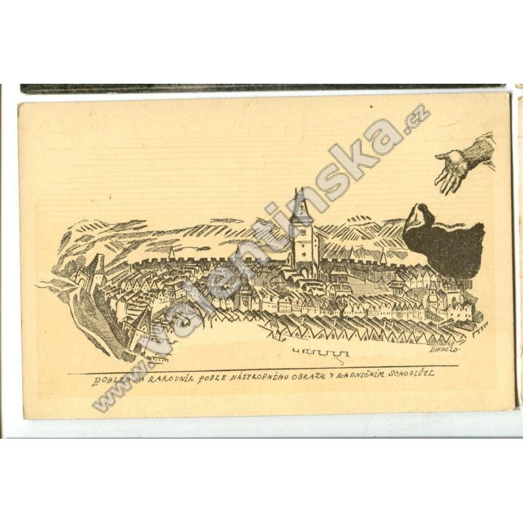 Rakovník, pohlednice jako veduta