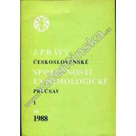 Zprávy Čs. společnosti entomologické, 1/1988