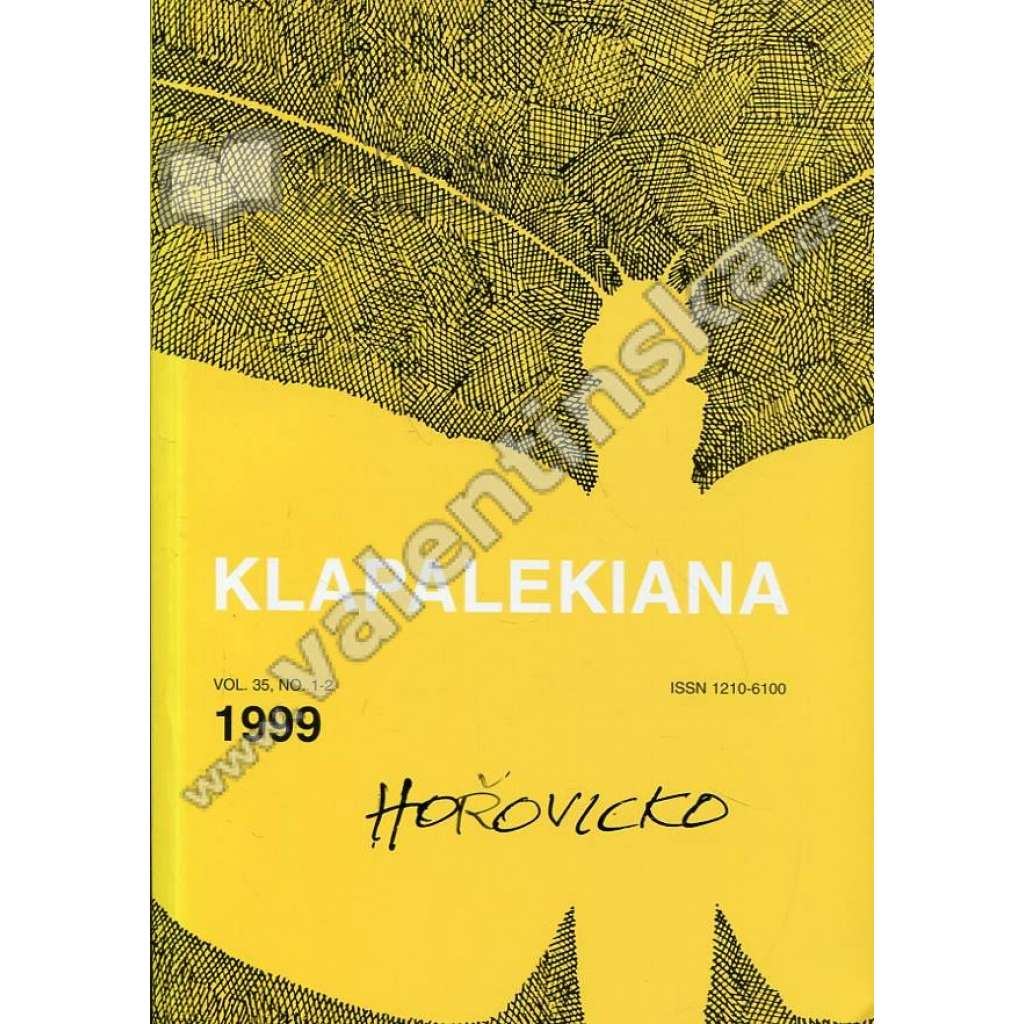 Klapalekiana, vol. 35, no. 1-2 (1999)