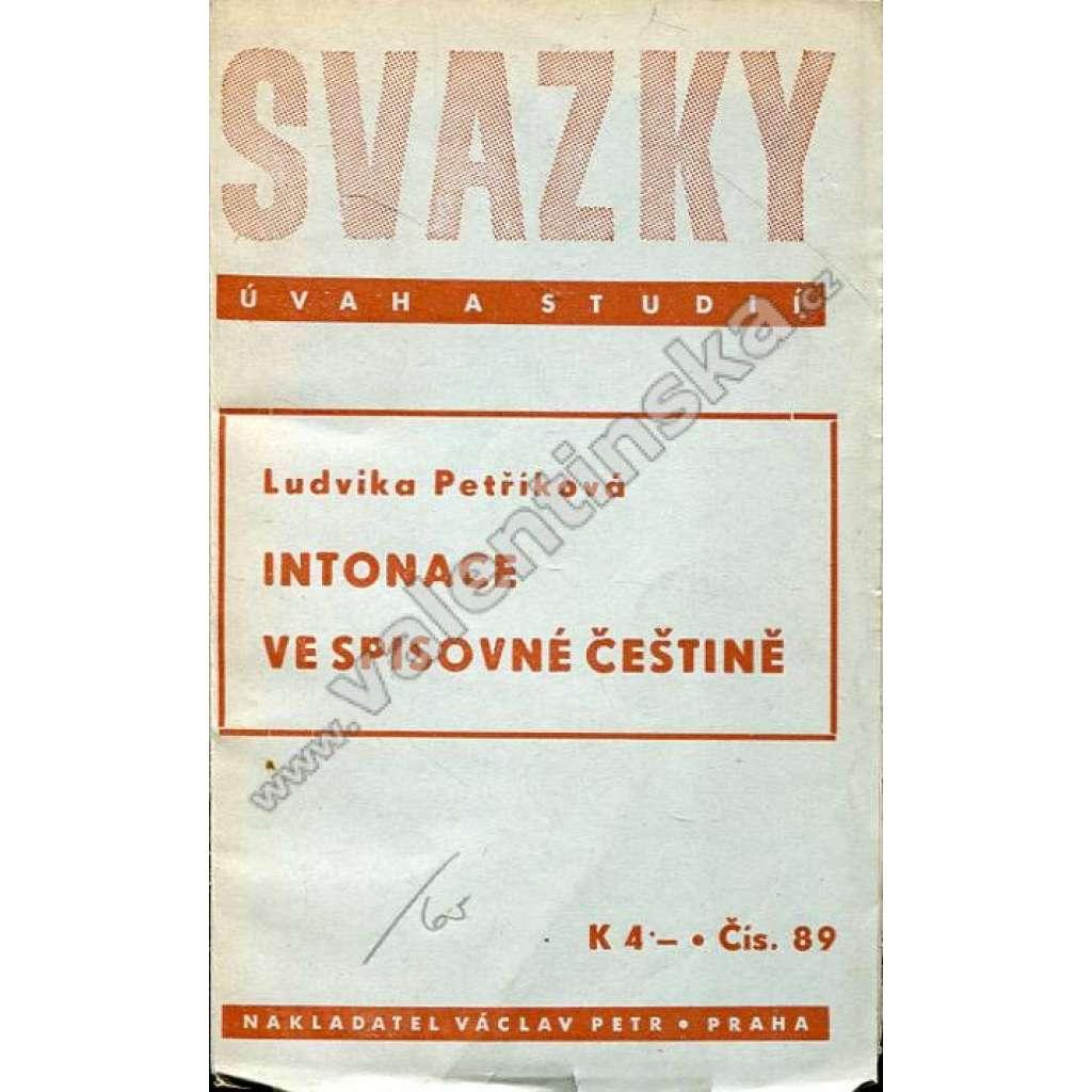 Intonace ve spisovné češtině