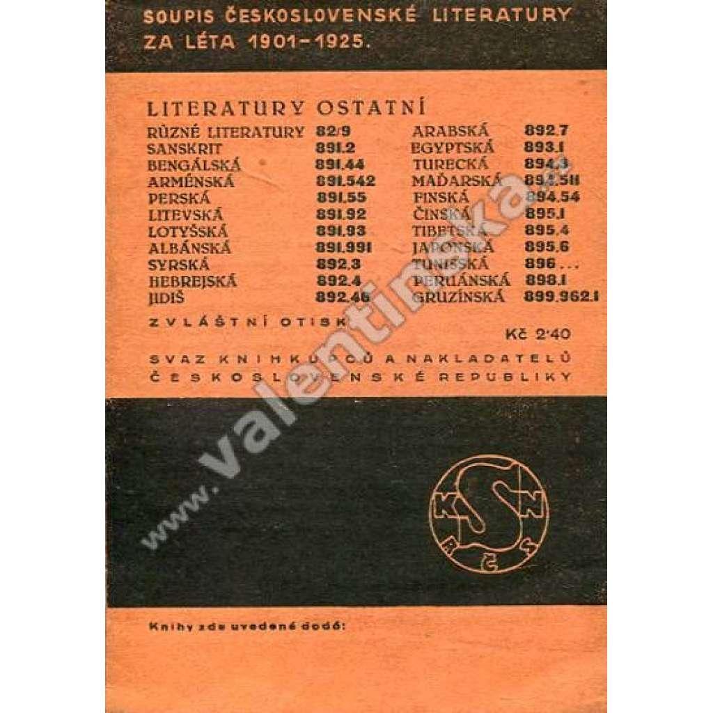 Soupis čsl. literatury za léta 1901-1925