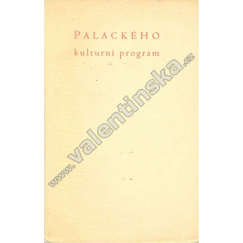 Palackého kulturní program z r. 1837