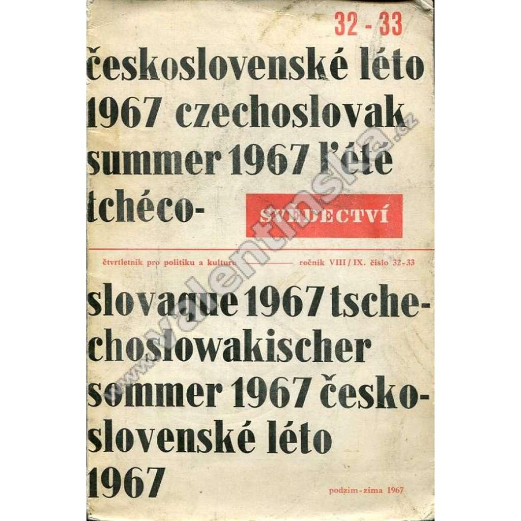 Československé léto 1967 (Svědectví, Exil 1967)