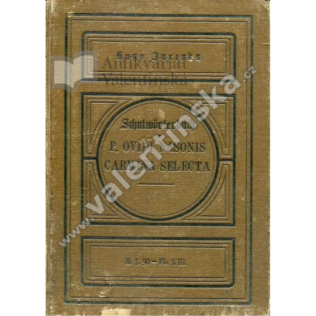 Schulwörterbuch zu P. Ovidi Nasonis Carmina...