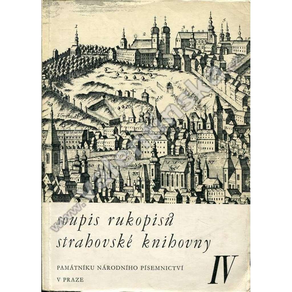 Soupis rukopisů strahovské knihovny, IV.
