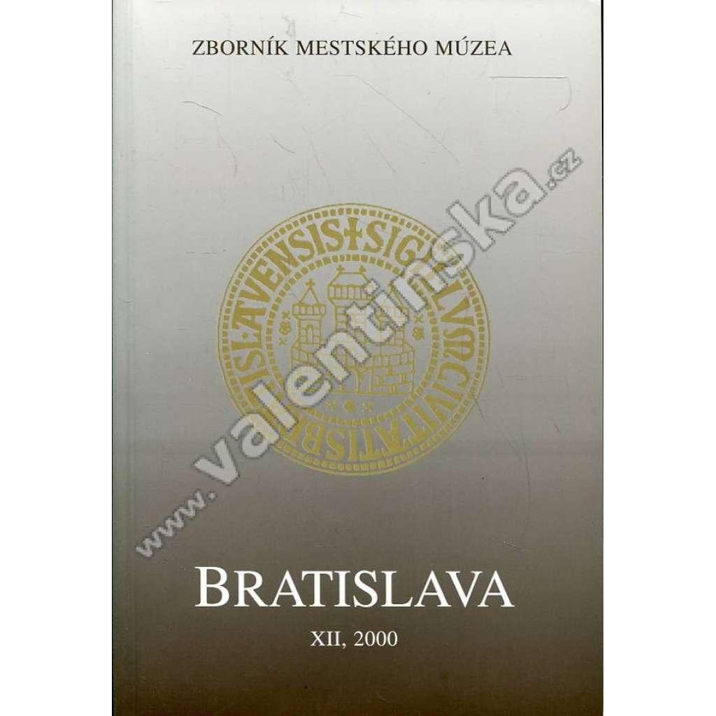 Zborník Mestského múzea Bratislava, 2000