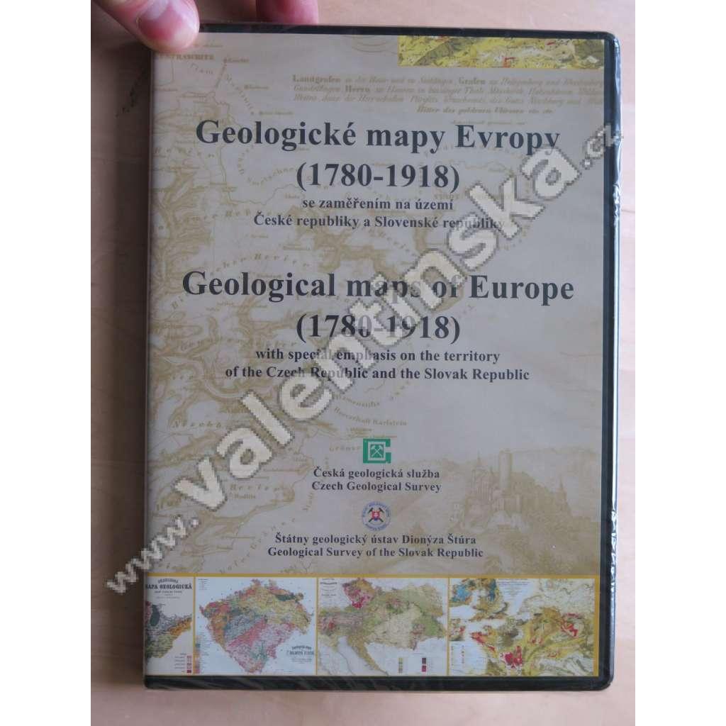 Geologické mapy Evropy (1780-1918) - DVD - ROM