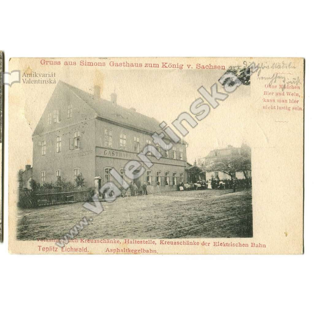 Dubí Eichwald, Teplice,, hospoda Gasthaus
