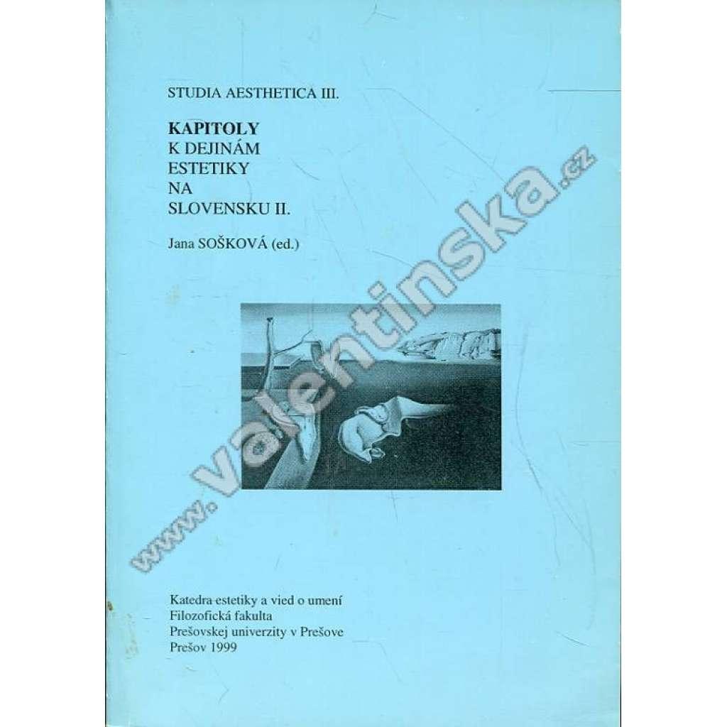 Kapitoly k dejinám estetiky na Slovensku II.