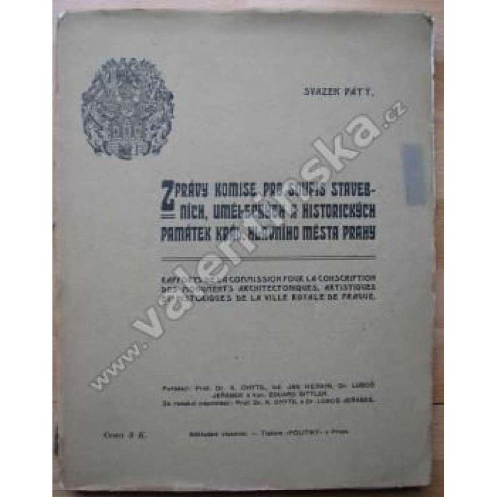 Zprávy komise pro soupis stavebních...svazek pátý